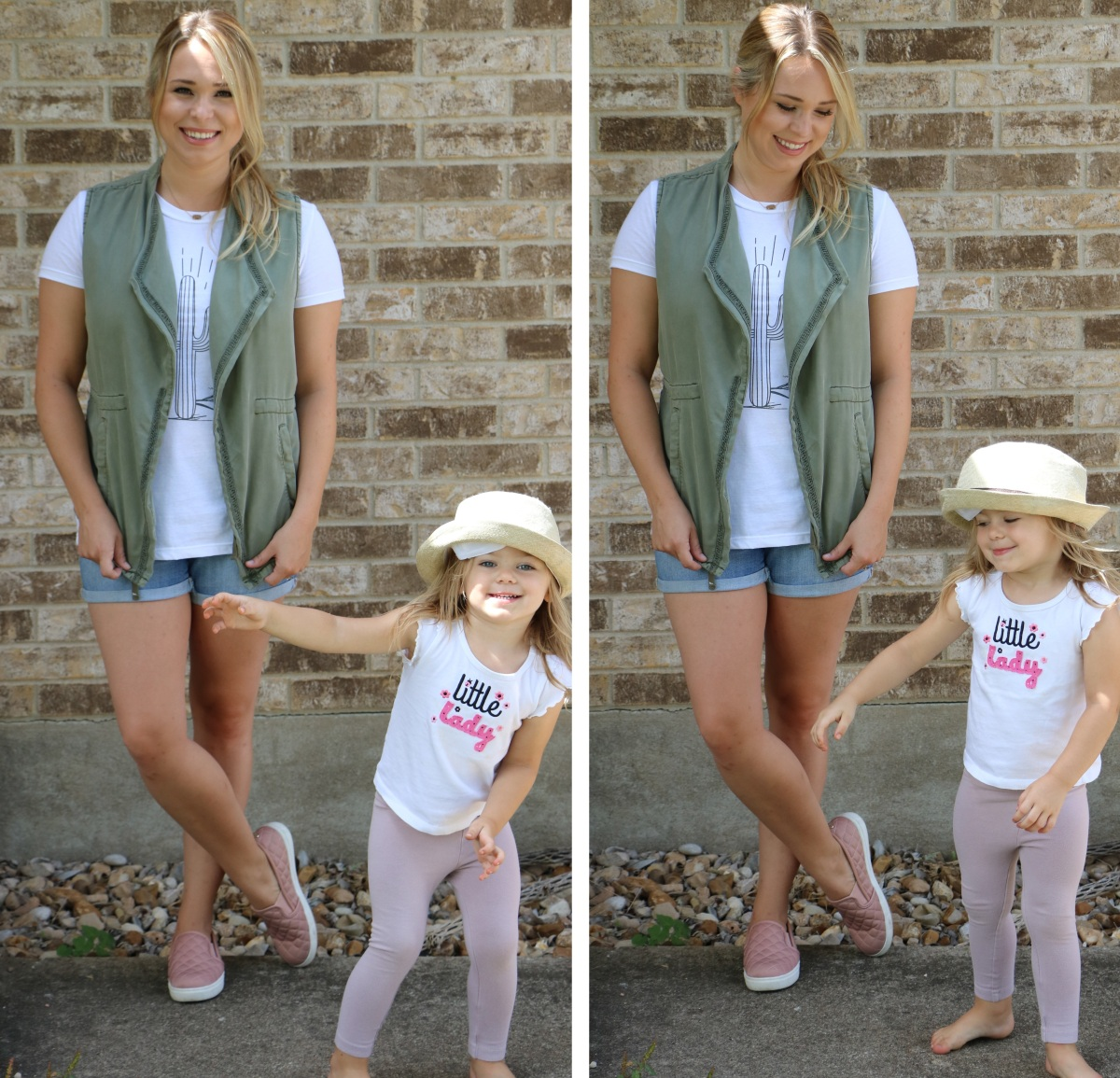 Outfit: Mommy on the Go + Pink Sneakers